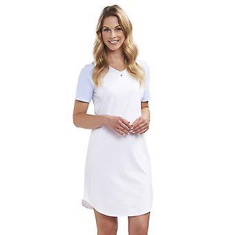 Smart Casual Minimal pastello blu diamante cotone camicia da notte Rosch 1193017-12561 femminile