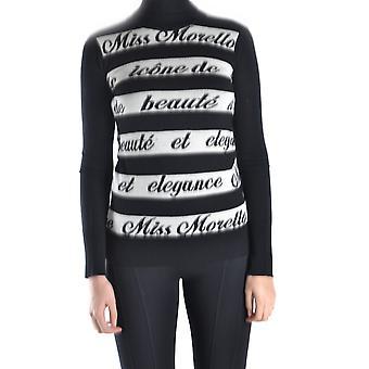 Frankie Morello Ezbc167065 Women's White/black Cotton Sweater