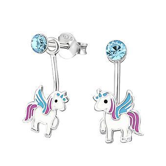 Kinder-Sterling Silber Unicorn Dangle Ohrringe