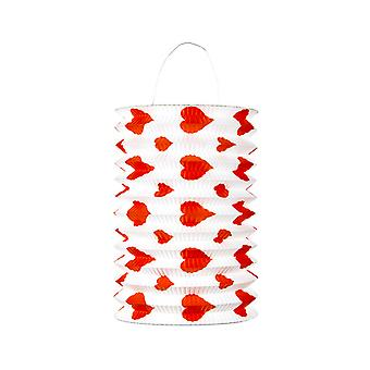 Set Of 2 Red Hearts Lanterns