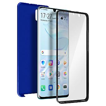 Siliconen case + back cover in polycarbonaat voor Huawei P30 Pro-Bleu