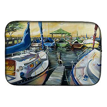 Carolines Treasures  JMK1075DDM Seven Boats Sailboats Dish Drying Mat