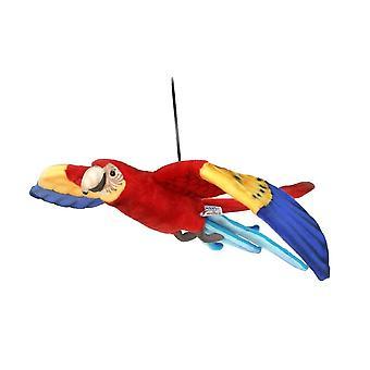 Figura de deslizamiento de felpa Hansa Ara volando rojo