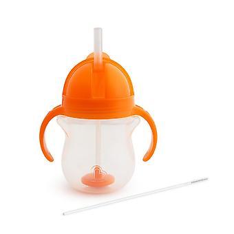 Munchkin Klikk Lås Tips & Sip Straw Cup 7oz - Oransje