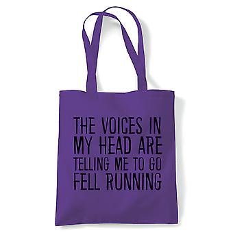 Voices In My Head Fell Running, Tote - Reusable Shopping Canvas Bag Gift