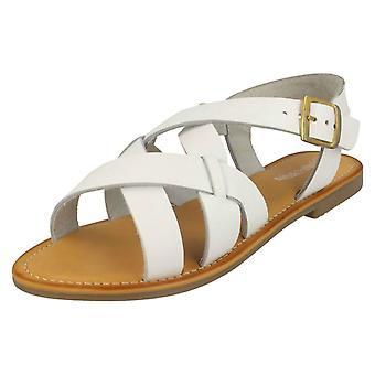 Damer läder kollektion spänne slingback sandaler F00229