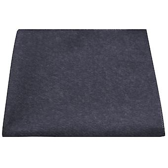 Luxury Navy Blue Donegal Tweed Pocket Square, Handkerchief