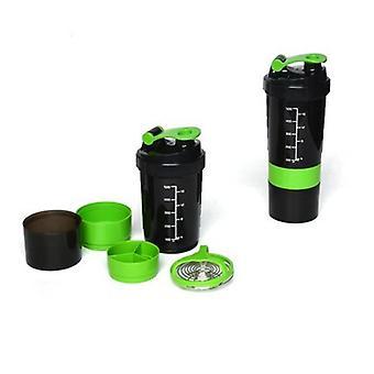 2x proteína ginásio Shaker Premium 3-em-1 estilo inteligente misturador mixer Cup