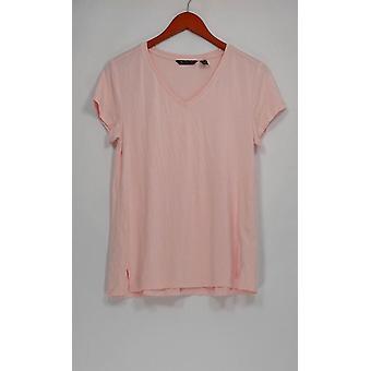 H par Halston Women-apos;s Top Essentials V-Neck Pink A306231