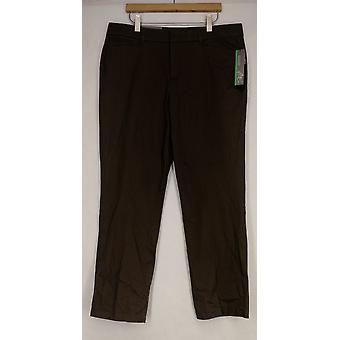 Style et Cie 6 Pantalon Slimming Stretch Denim w/ Flare Leg Black Womens