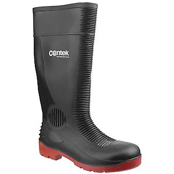 Centek Unisex FS338 Compactor Waterproof Safety Wellington Black