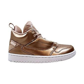 Nike Иордания Fadeaway частицы бежевый / Бело-благородный красный AV5181-240 Класс-школа