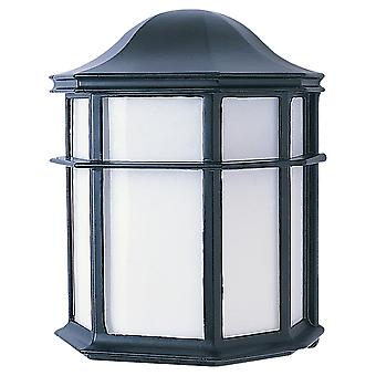 Sea Gull Lighting 321034 1-Light Fluorescent Wall Lantern in Black Finish Cast