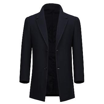 Allthemen Men ' s simplu clasic Slim Fit Mid-lung lână overcoat