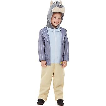 Vind i Willows rat Deluxe Kids kostume blå vind i Willows Ratty Jumpsuit