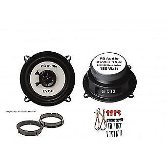 de coax van 13cm, 2-weg coax, Peugeot 306 XR/XT, luidsprekers vooraan incl. adapter ringen