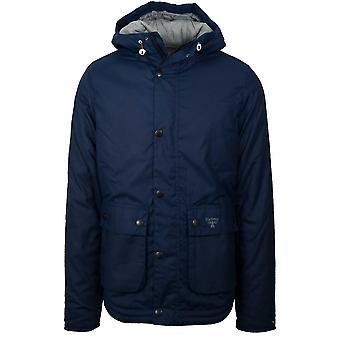 Barbour Beacon Hooded Reelin Blue Waxed Jacket