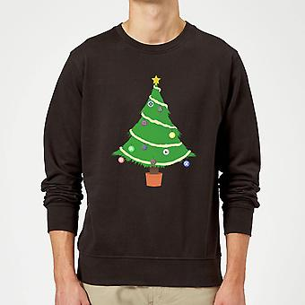 Buttons Tree Sweatshirt - Black