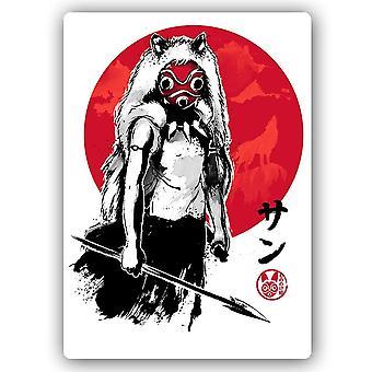 Metal a cópia, lobo japonês da menina