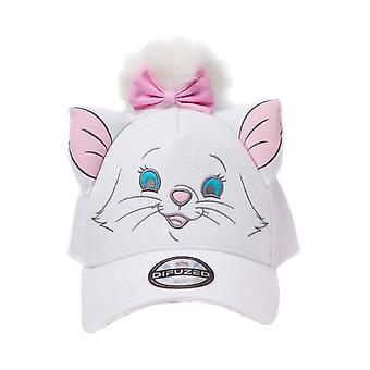 The Aristocats Baseball Cap Marie Face Official Disney Novelty White Strapback