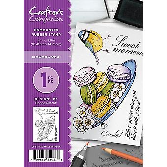Crafter's Companion A6 Rubber Stamp - Macaroons