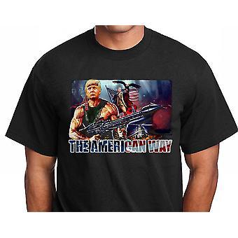 Trump USA Hero T-shirt met design-Amerikaanse manier