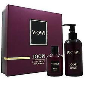 Joop! Wow! Para o presente das mulheres conjunto 60ml EDT + 250ml gel de banho