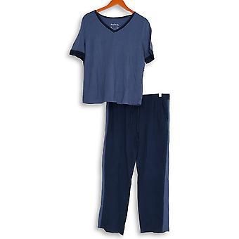 Anybody Women's Pajama Sets Cozy Knit Color Block Blue A310149