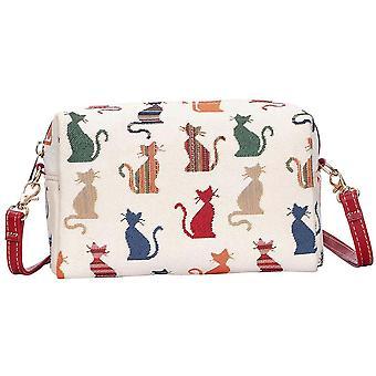 Brutale Cat Shoulder hip Bag door signare tapijten/hpbg-cheky