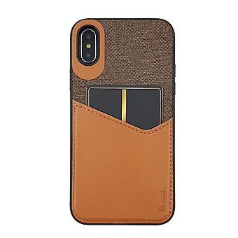 Brown iPhone Xs / X Case With Card Holder