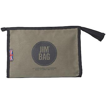 JIMBAG Olive Travel Sports Gym Wash Bag Toiletry Makeup Organiser
