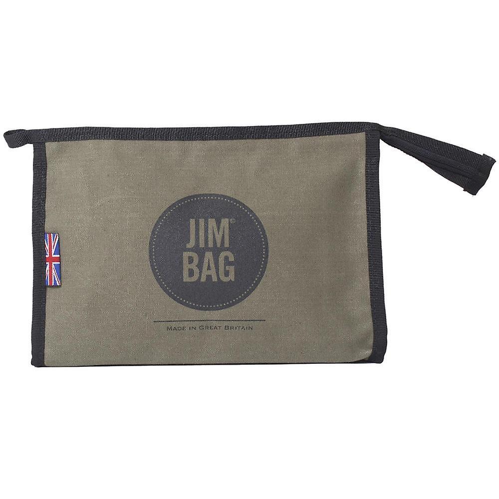 JIMBAG Olive Travel Sports Gym Wash Bag Toiletry Makeup Organiser