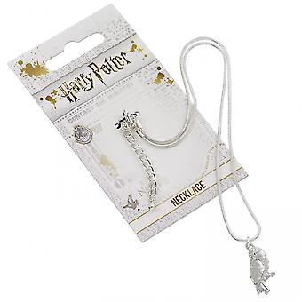 Harry Potter Silver Plated Hedwig Owl Necklace