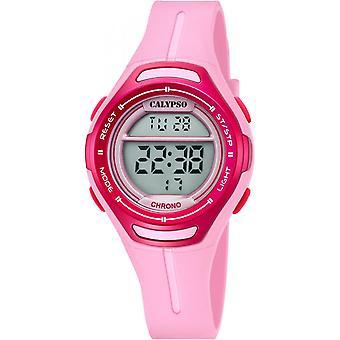 Calypso K5727-2 - Watch chronograph pink girl