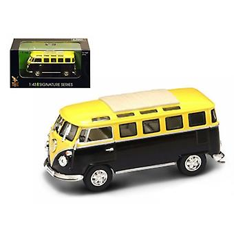 1962 Volkswagen Microbus Van Bus Jaune/Noir 1/43 Diecast Car by Road Signature
