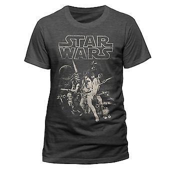 Star Wars A New Hope Film Plakat Jedi Dziennik T-Shirt