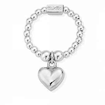 ChloBo SRM1023 المرأة & apos;ق ميني منتفخة حلقة القلب (صغير)