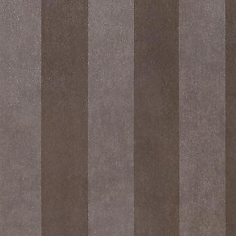Two Tone Brown Stripe Wallpaper Superior Wallcovering Paste The Wall