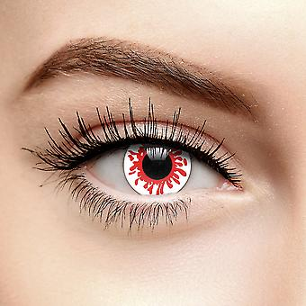 Red Blood Splat Halloween Colored Contact Lenses (30 Day)