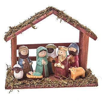 Gisela Graham Ceramic Nativity Set