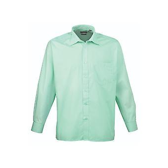 Premier long sleeve poplin shirt pr200 light colours