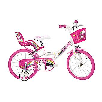 Dino Bikes Unicorn 14 Inch Bicycle Pink