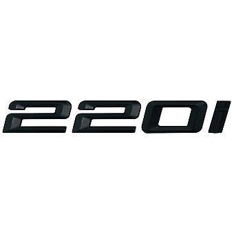 Matt Negro BMW 220i coche modelo de arranque trasero número carta etiqueta etiqueta etiqueta etiqueta emblema para 2 Series F22 F45 F46