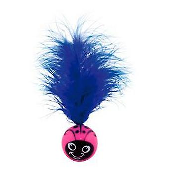 Nayeco Smile ball feathered cat (Cats , Toys , Plush & Feather Toys)