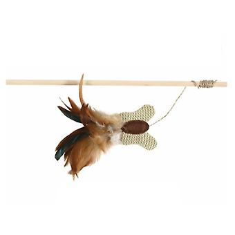 Trixie Cat toy, mouse on a stick, 45 cm (Cats , Toys , Teaser Wands)