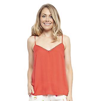 Cyberjammies 4457 Women's Sophia Red Modal Cami Pyjama Top