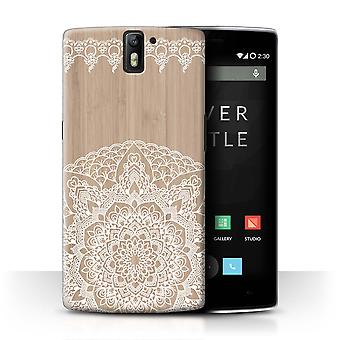 STUFF4 Case/Cover for OnePlus One/Bamboo Mandala/Fine Lace Wood