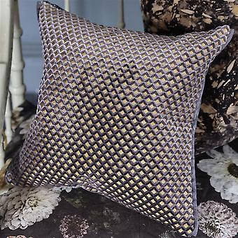 Designers Guild Portland Geometric Cushion In Graphite Grey