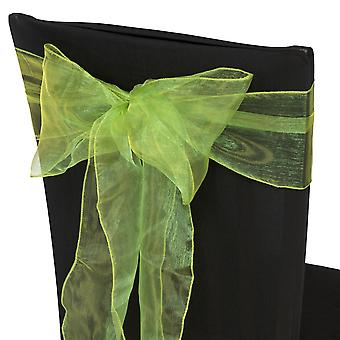 17cm x 274cm Organza Table Runners Wider et Fuller Sashes Sage Vert