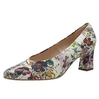Peter Kaiser Lipana Classic Mid Heel Court Shoes In Multi Flower